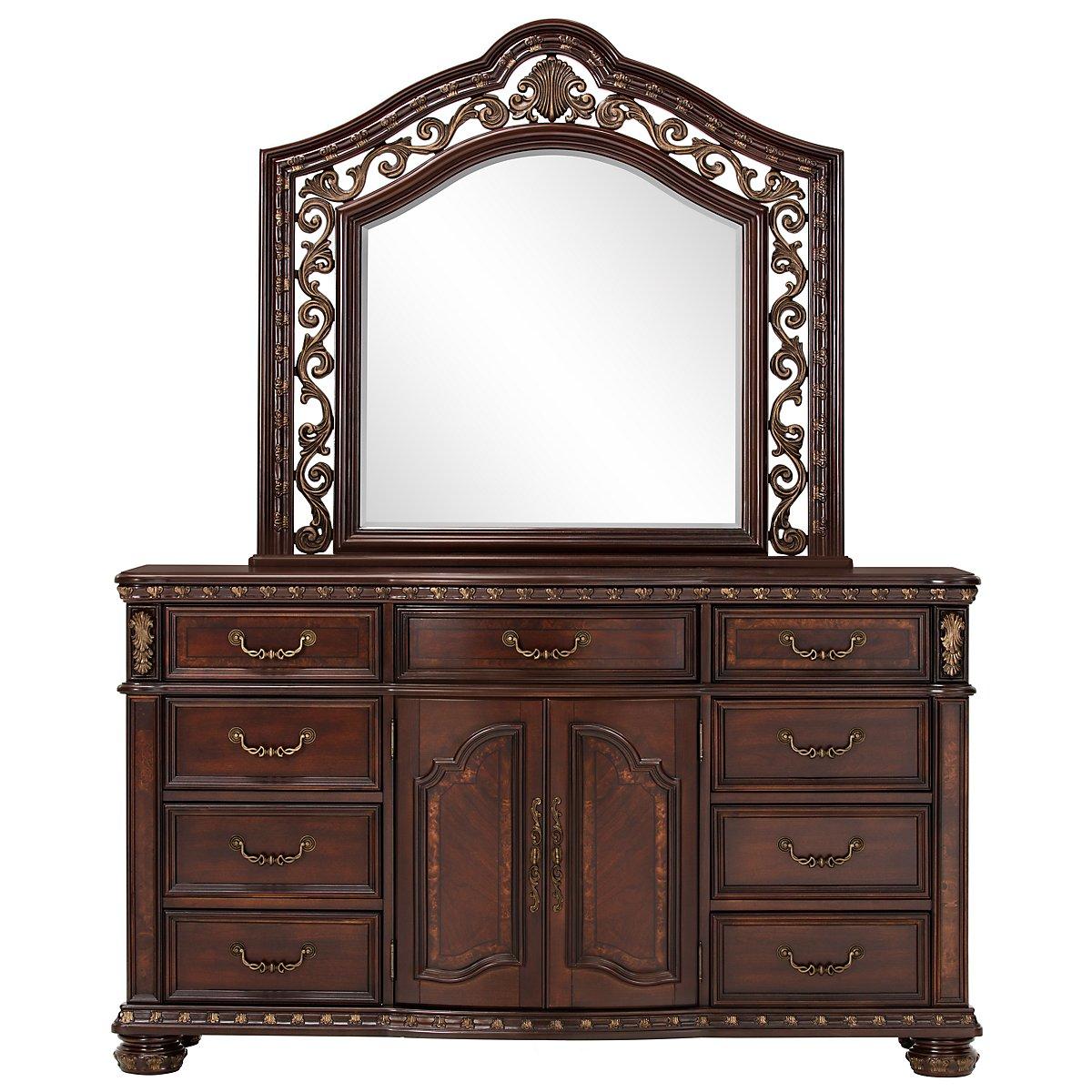 Vigo Dark Tone Dresser & Mirror