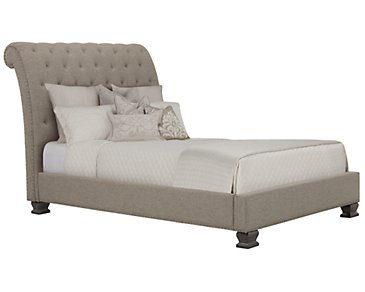 Emerson Gray Upholstered Platform Bed