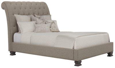 emerson gray upholstered platform bed
