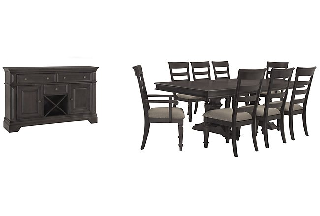 Emerson Gray Wood Dining Room