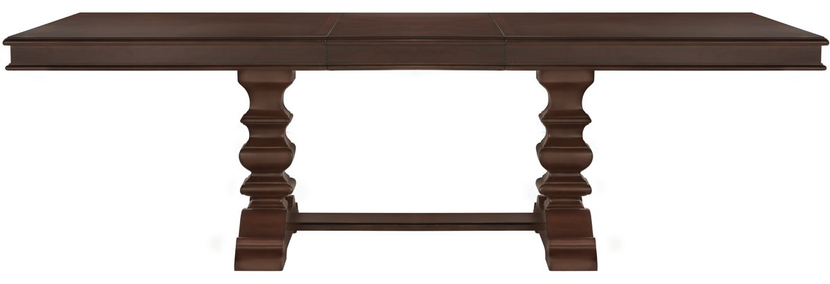 Emerson Dark Tone Wood Trestle Table