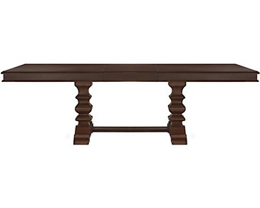 Emerson Dark Tone Trestle Table