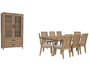 Casablanca Light Tone Rectangular Dining Room