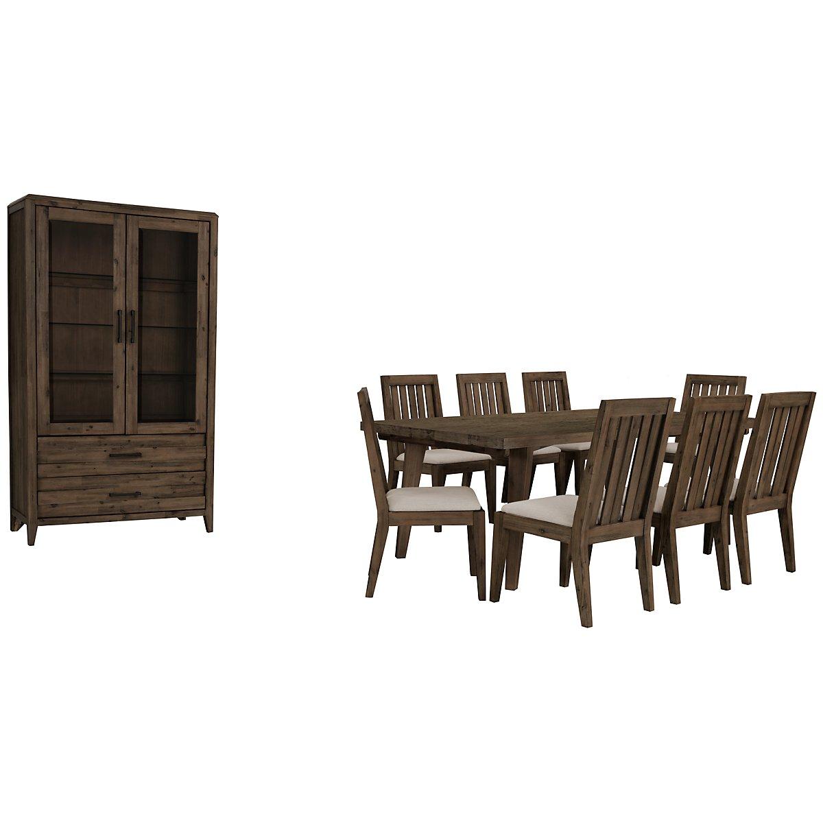 Casablanca Dark Tone Rectangular Dining Room