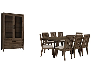 Casablanca Dark Tone Rectangular Dining Room