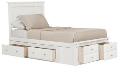 laguna white platform storage bed