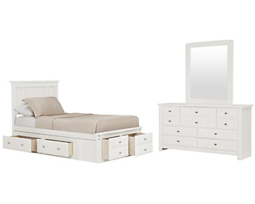 Laguna White Platform Storage Bedroom