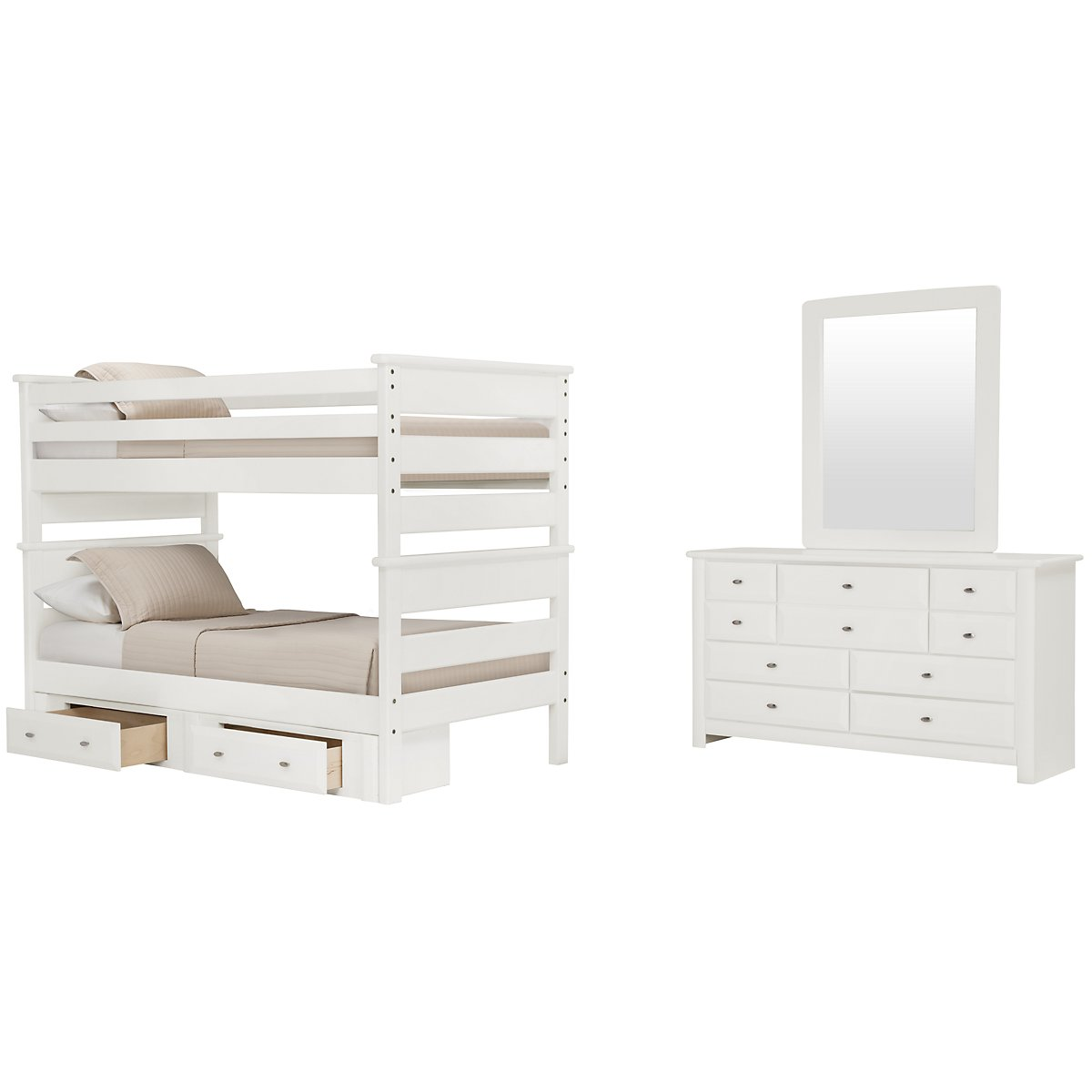 city furniture laguna white bunk bed storage bedroom