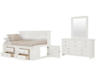 Laguna White Bookcase Daybed Storage Bedroom