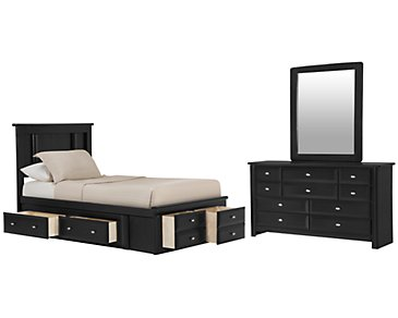 Laguna Black Platform Storage Bedroom