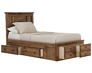 Laguna Dark Tone Platform Storage Bed