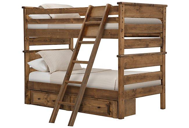 Laguna Dark Tone Wood Storage Bunk Bed