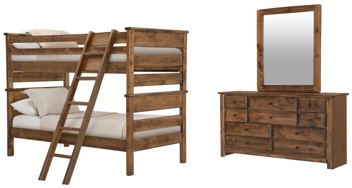 Laguna Dark Tone Wood Bunk Bed Bedroom
