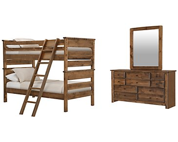 Laguna Dark Tone Bunk Bed Bedroom