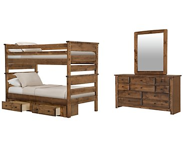 Laguna Dark Tone Bunk Bed Storage Bedroom