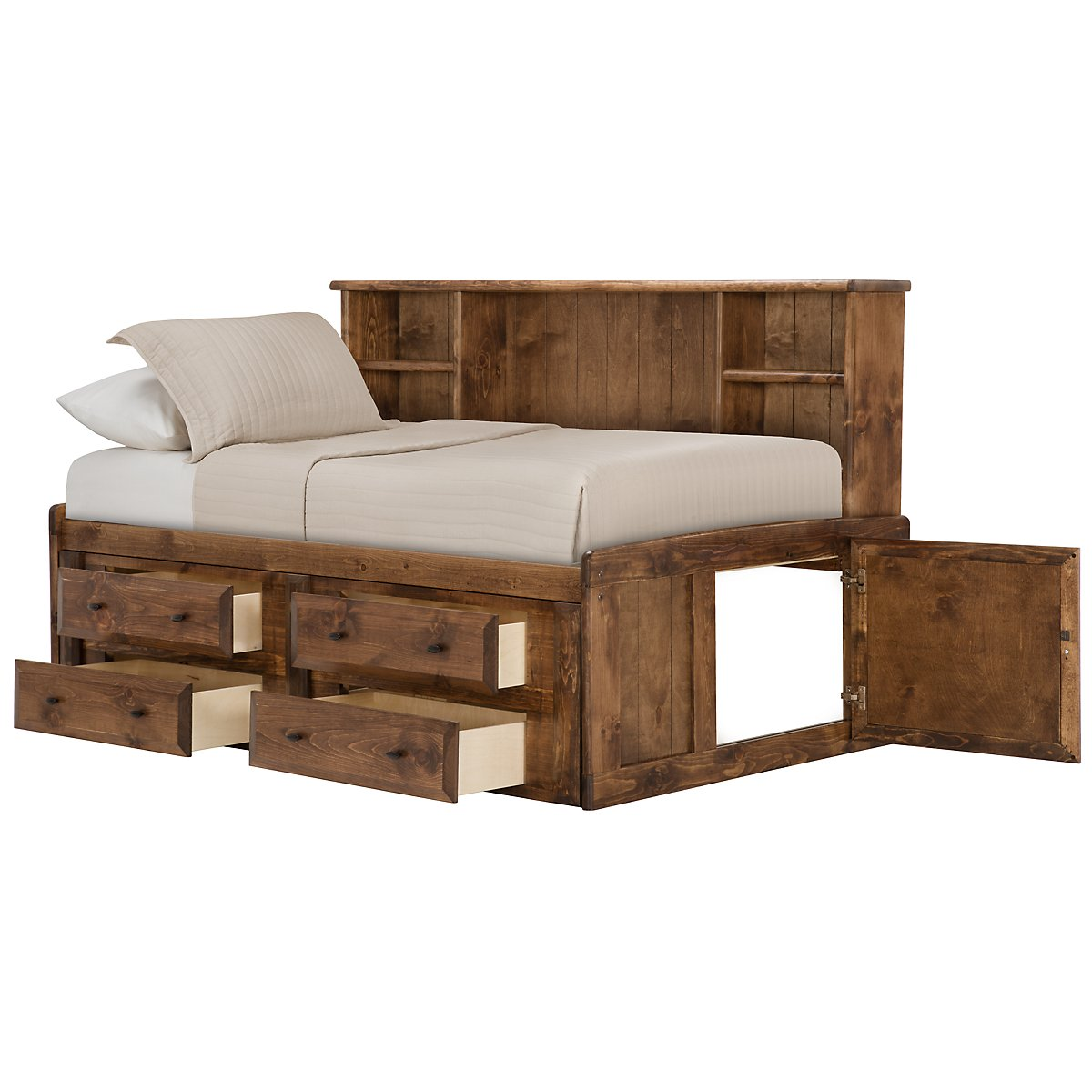 Laguna Dark Tone Storage Bookcase Daybed