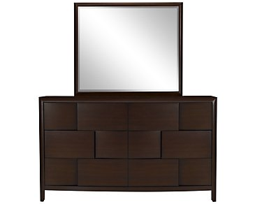 Nova2 Dark Tone Dresser & Mirror