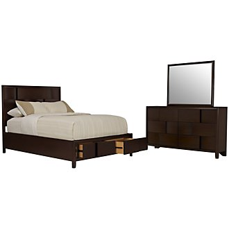 Nova2 Dark Tone Platform Storage Bedroom