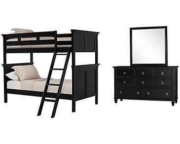 Tamara Black Bunk Bed Bedroom