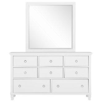 Tamara White Dresser & Mirror
