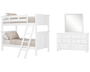 Tamara White Bunk Bed Bedroom