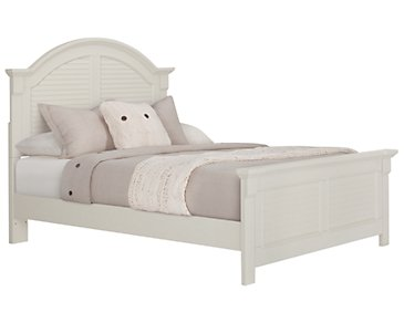 Quinn White Panel Bed