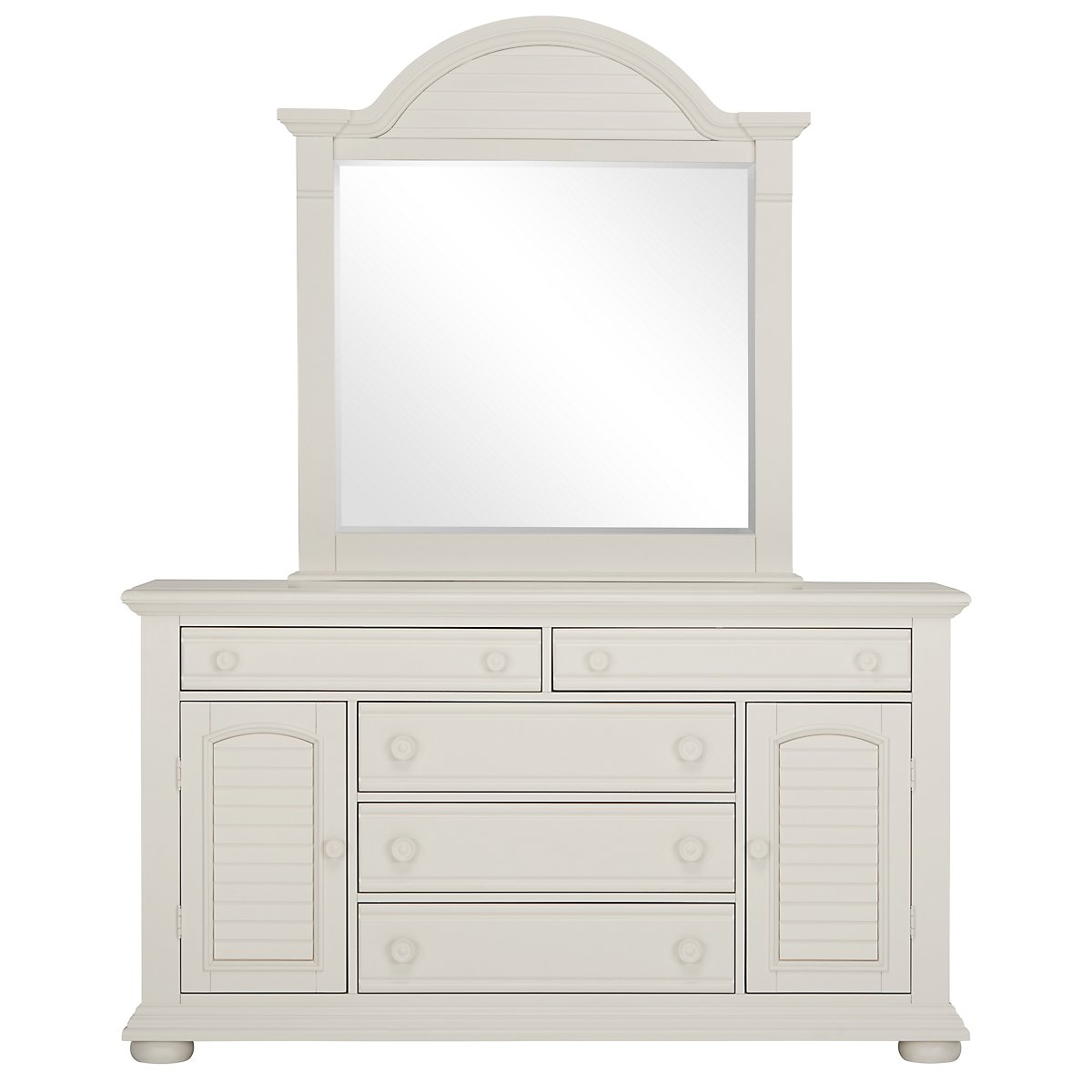Quinn White Wood Large Dresser & Mirror