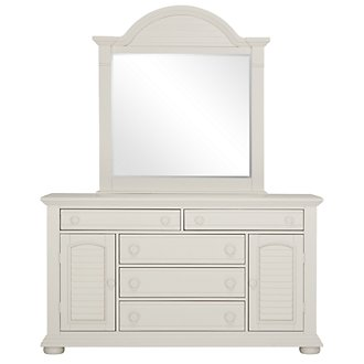 Quinn White Large Dresser & Mirror