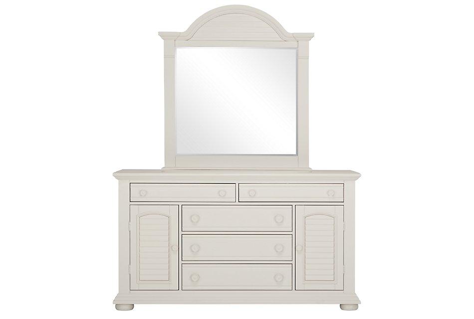Quinn White Wood Dresser & Mirror | Bedroom - Dressers ...