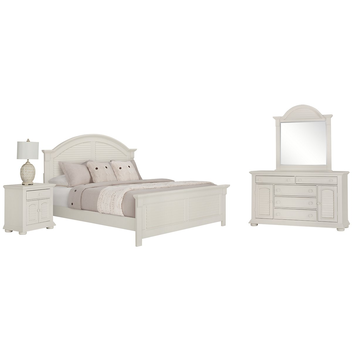 City Furniture: Quinn White Large Dresser & Mirror