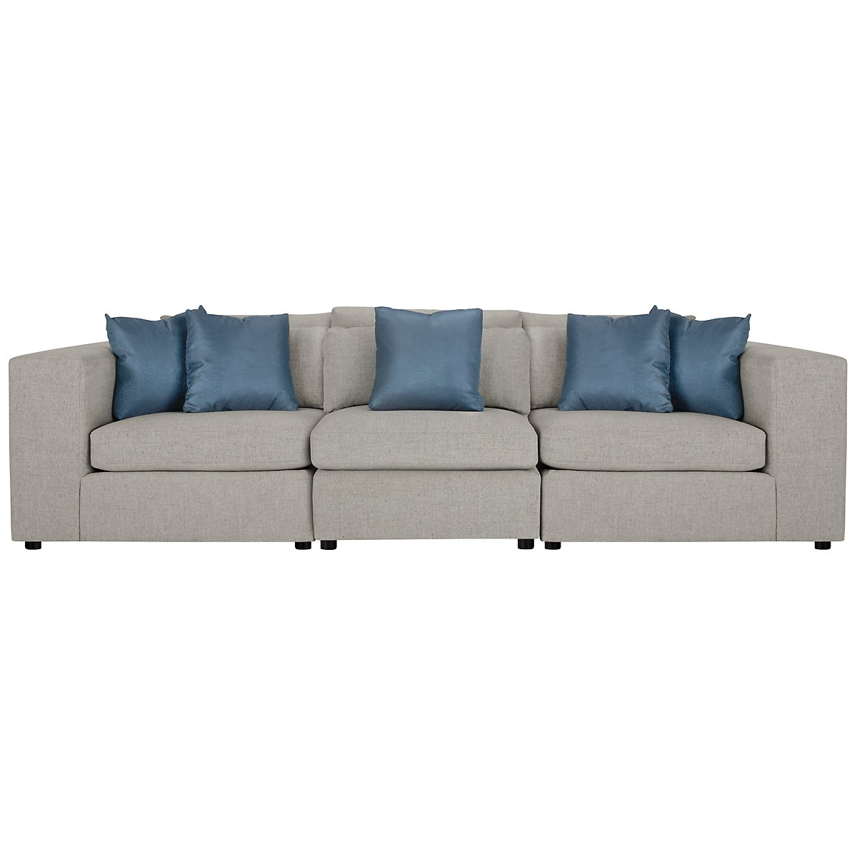 Como Gray Fabric Small Sofa