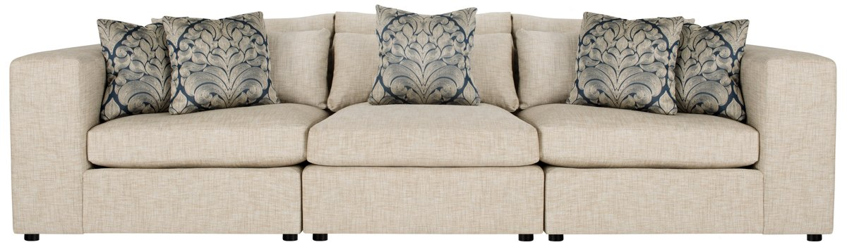 Como Khaki Fabric Small Sofa