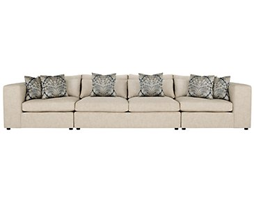 Como Khaki Fabric Large Sofa