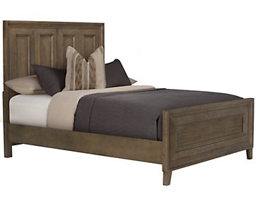 Dawson Light Tone Panel Bed