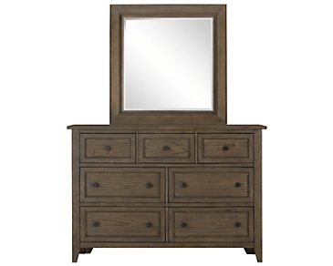 Dawson Light Tone Dresser & Mirror