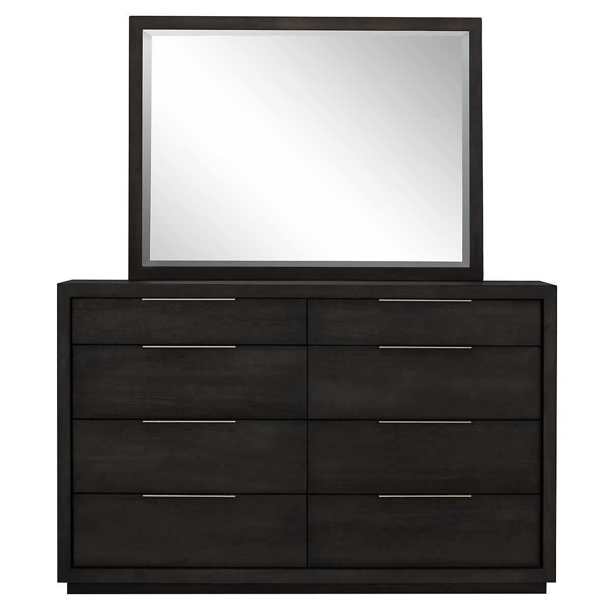 Madden Dark Tone Wood Dresser & Mirror