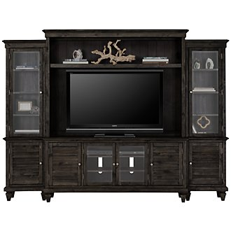 Sonoma Dark Tone Entertainment Wall