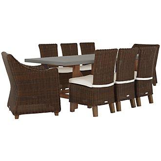 Canyon Concrete Dark Brown Rectangular Table & 4 Chairs