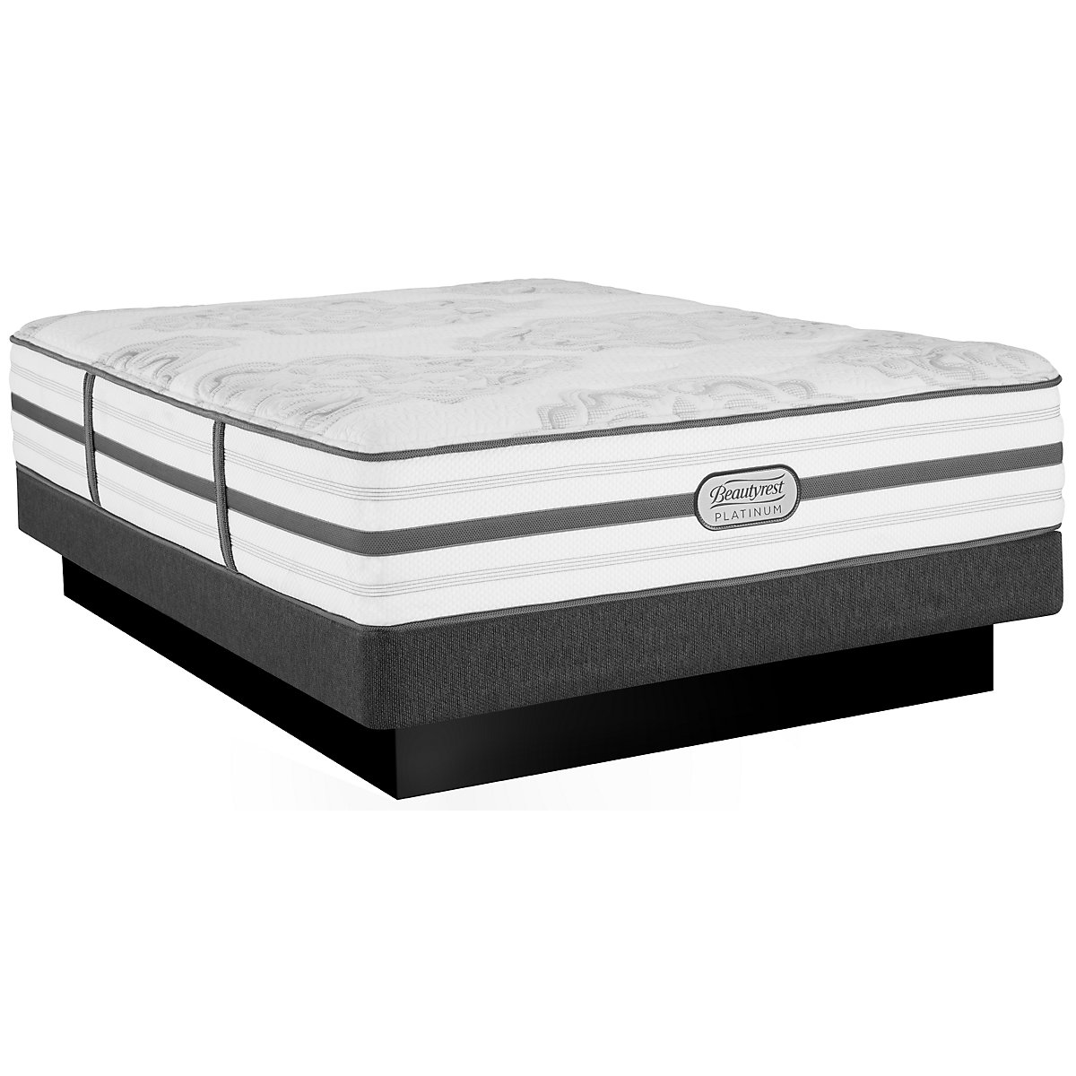Beautyrest Platinum Brittany Plush Innerspring Low-Profile Mattress Set