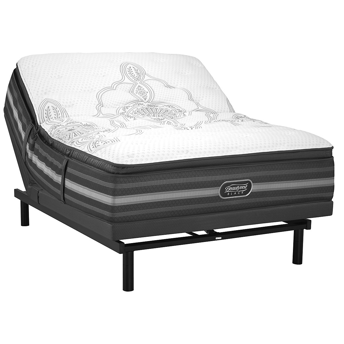 Beautyrest Black Katarina Plush SmartMotion™ 1.0 Pillow Top Adjustable Mattress Set