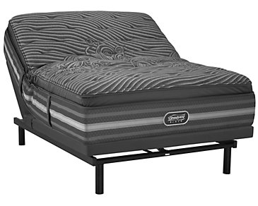 Beautyrest Black Natasha Luxury Plush SmartMotion™ 1.0 Pillow Top Adjustable Mattress Set