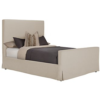 Sonoma Beige Upholstered Panel Bed