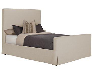 Sonoma Beige Upholstered Panel Bed