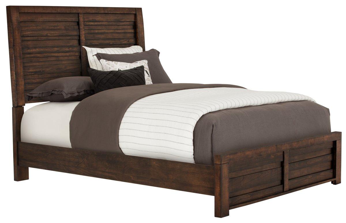 Nolan Dark Tone Wood Panel Bed