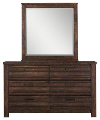 Nolan Dark Tone Wood Dresser U0026 Mirror