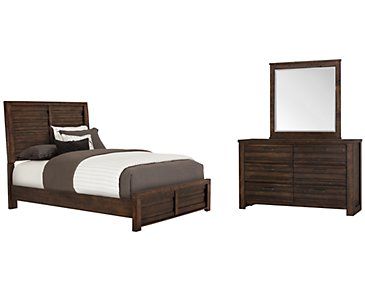 Nolan Dark Tone Panel Bedroom