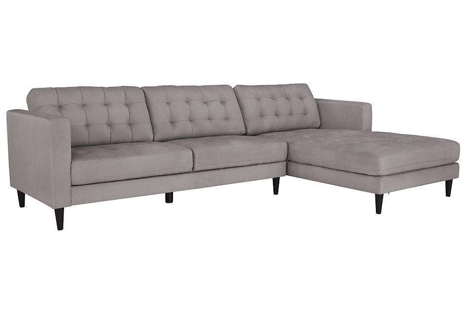 Shae Light Gray  MICRO Right Chaise Sectional