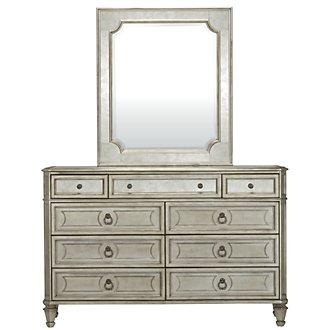 Sloane Silver Dresser & Mirror