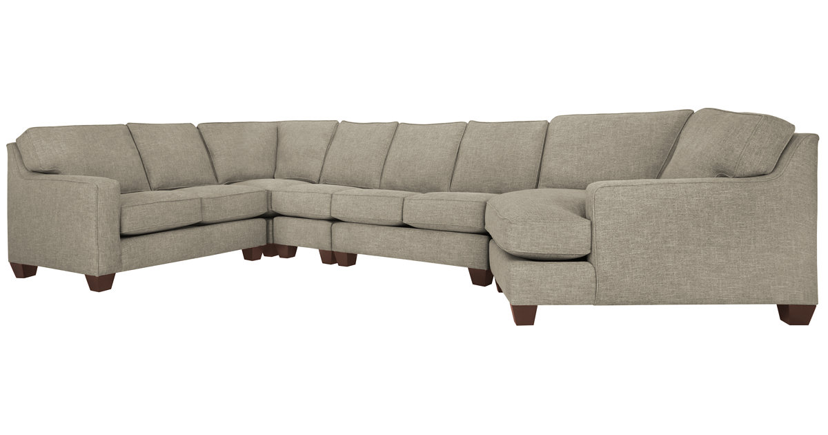 City Furniture York Pewter Fabric Right Arm Cuddler Sectional