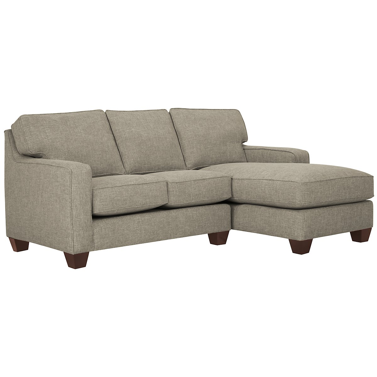 York Pewter Fabric Right Chaise Sectional